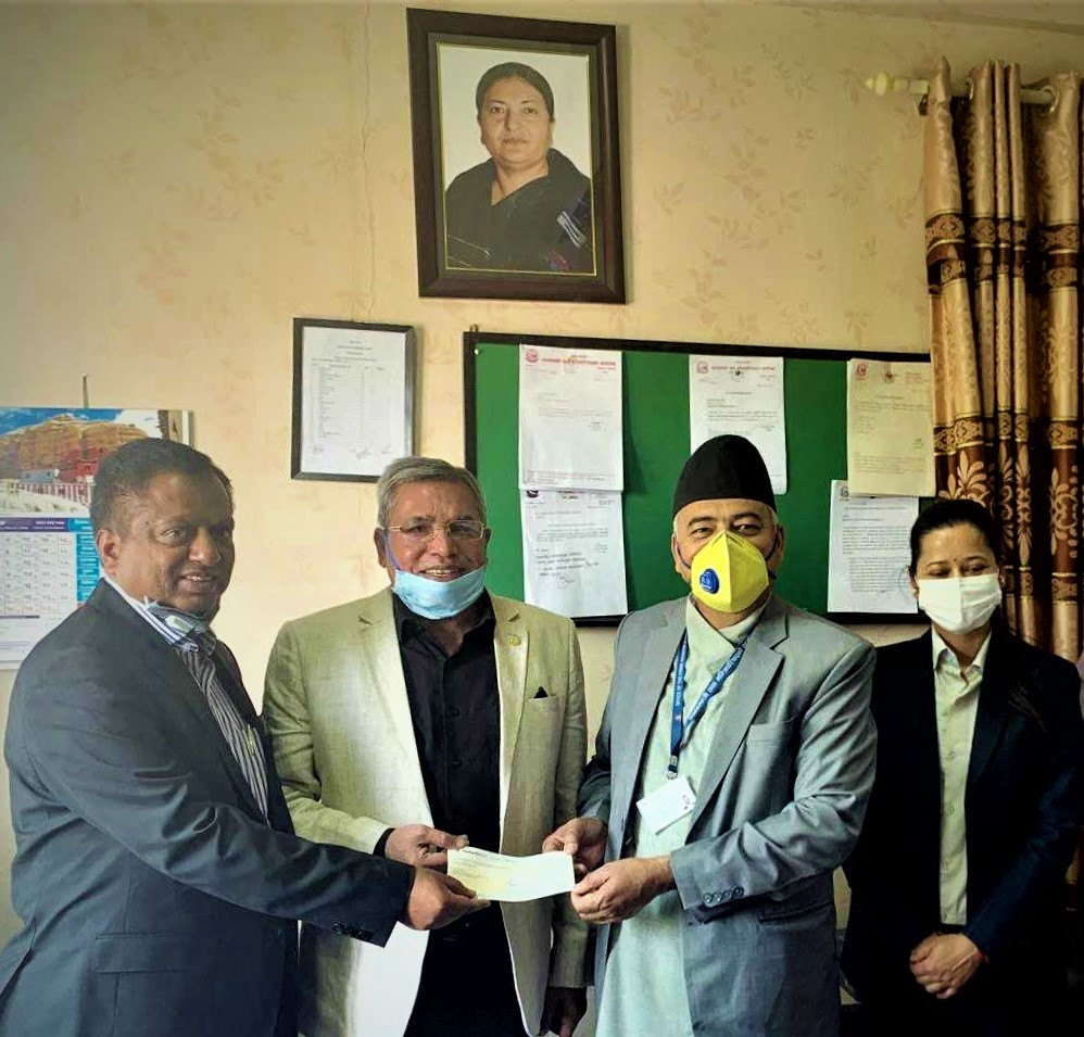 Donation of One Crore Rupees to Government of Nepal Corona Virus Control and Treatment Fund
