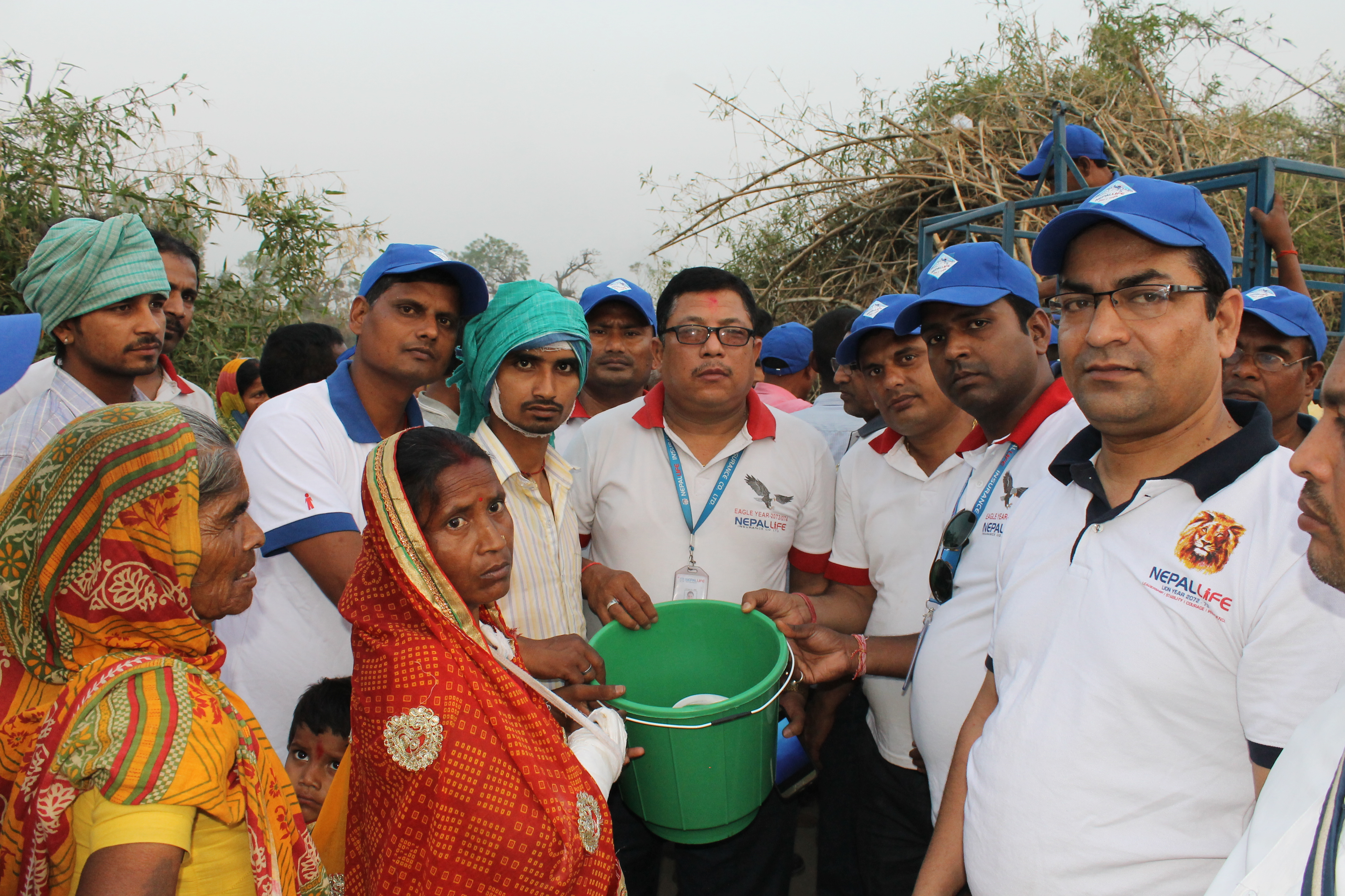 Relief Distribution and support at Parsa